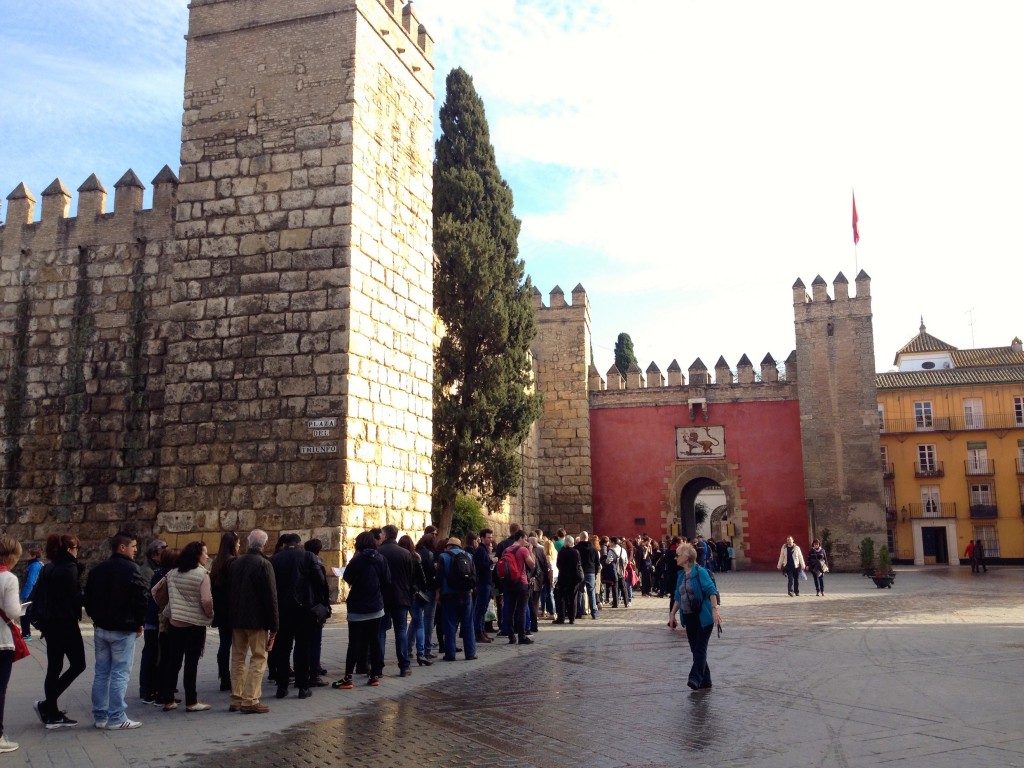 The Entrance to the Alcazar - check out this line!