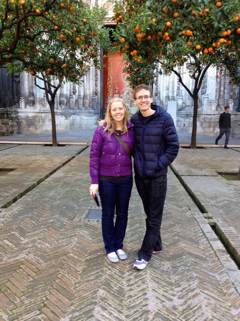 Here we are in the Patio de los Naranjos.