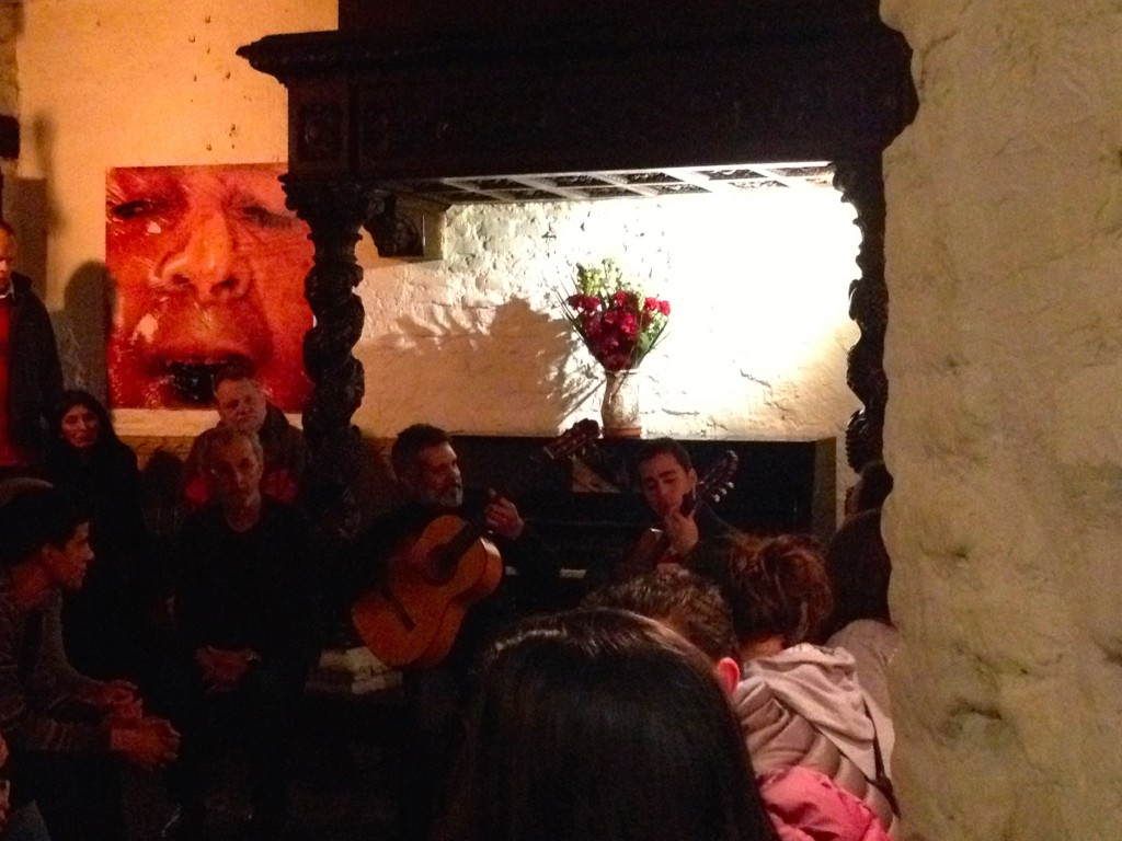 A Flamenco Guitarist and Singer at La Carbonería.