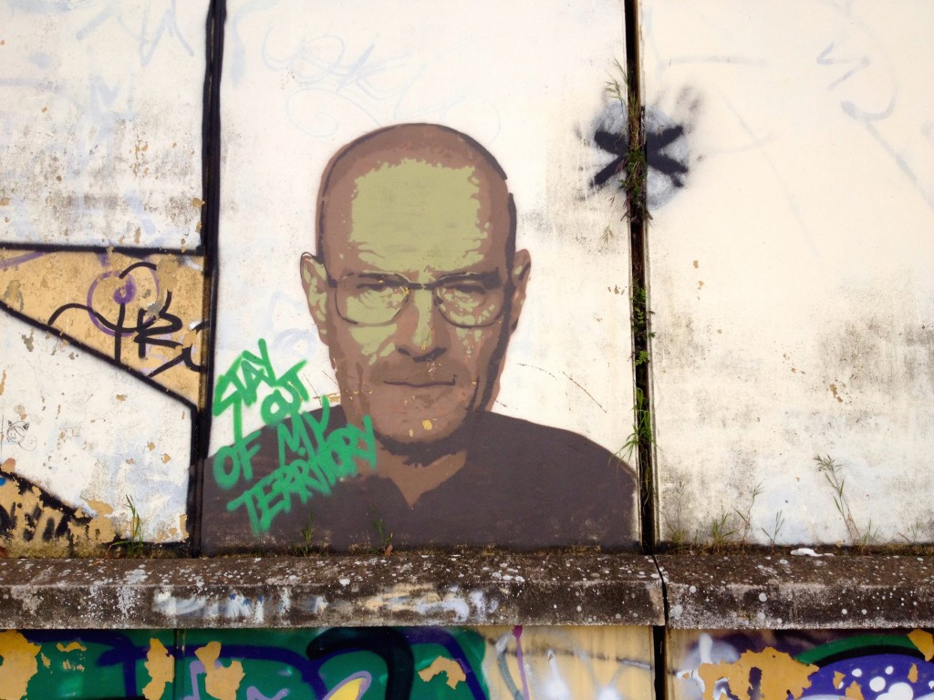 What would a post about graffiti be without Walter White from Breaking Bad? Clearly American pop culture is alive and well here in Spain.