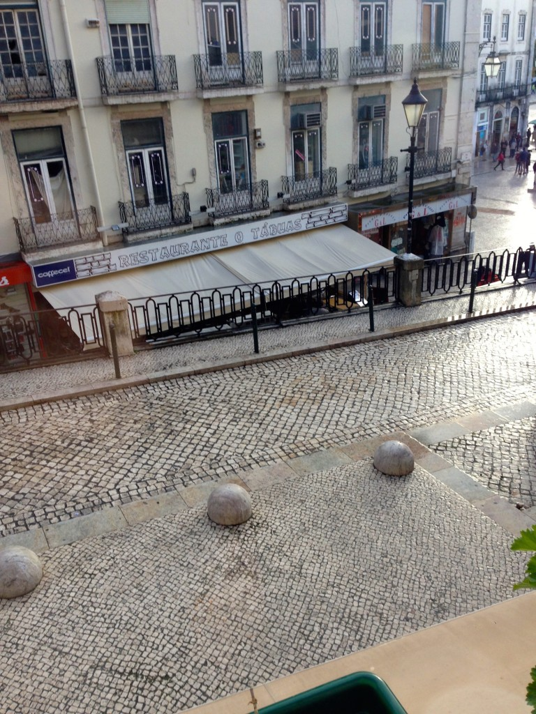It's hard to spot - we noticed Restaurante o Tabuas from our room in the Lisbon Story Guesthouse.