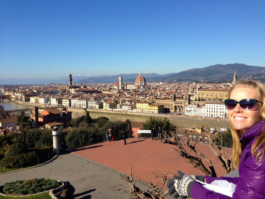 The view from Piazzalle Michelangelo.
