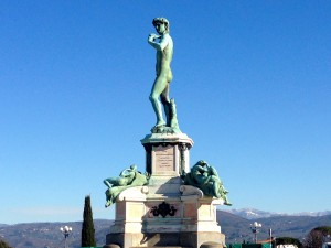 You can't take pictures of the real David statue, but there are replicas all over town. This one lives at the Piazalle Michelangelo viewpoint.