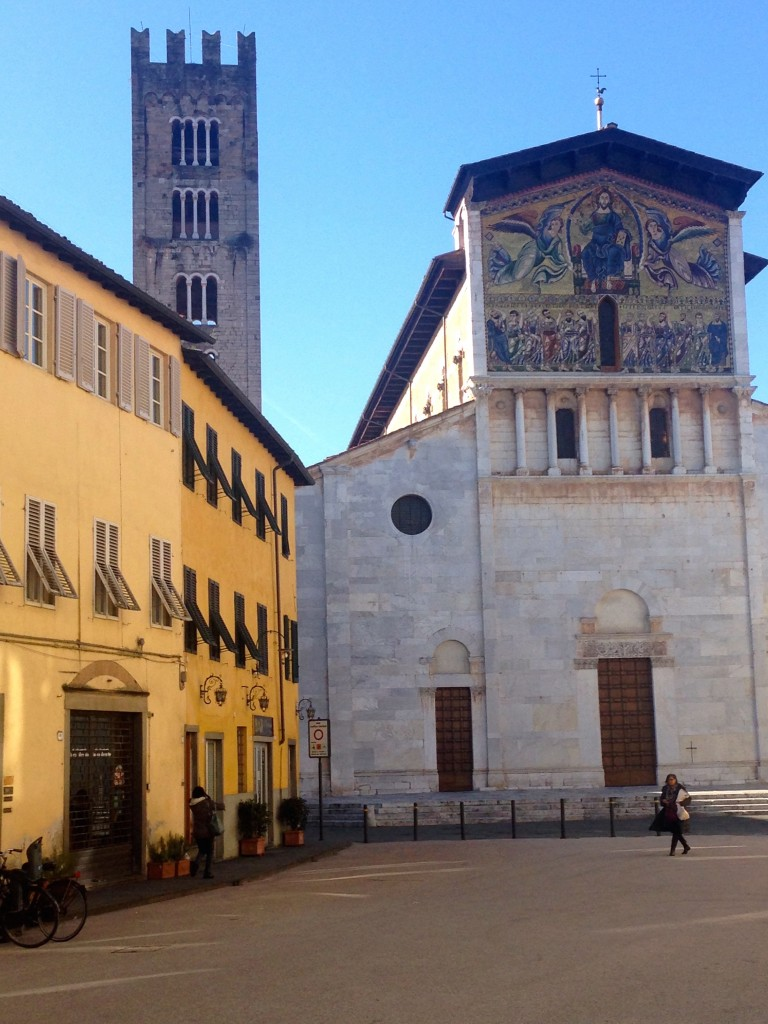 Lucca's Church of San Frediano, built in 1112. Check out the elaborate mosaic facade!
