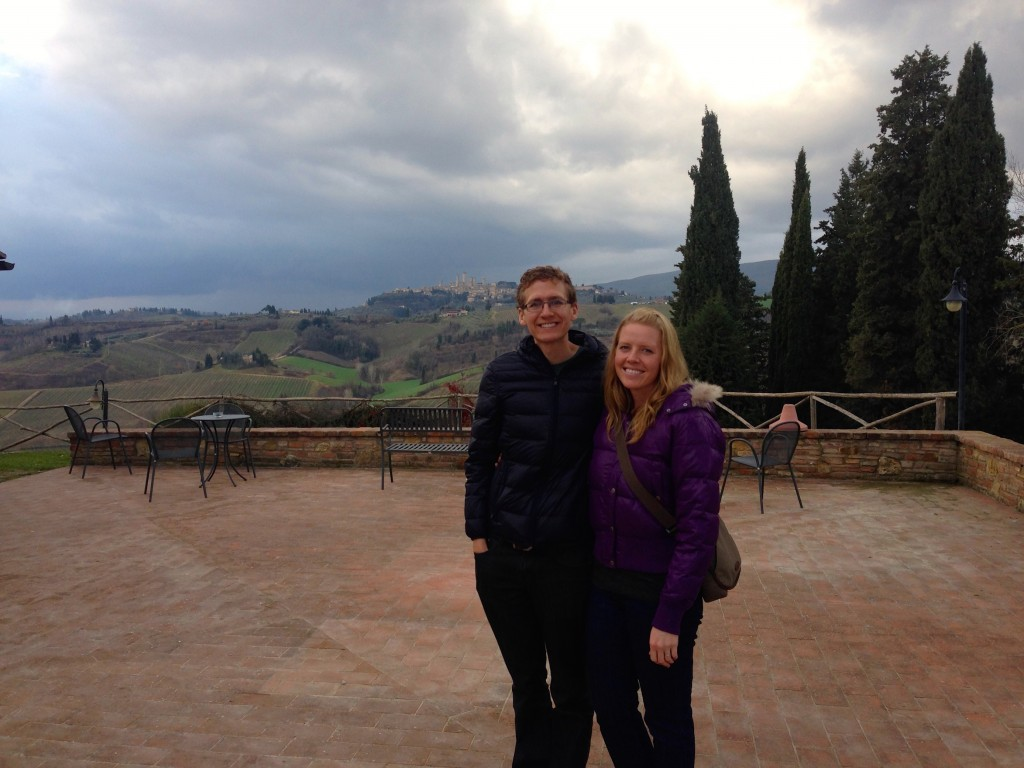 We went on a winery tour in the Tuscan Countryside.