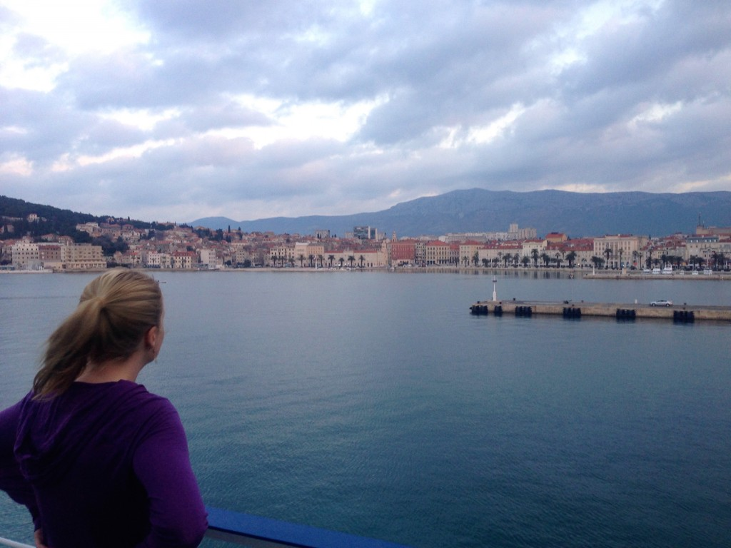 The view from our Jadrolinija Ferry as we came into port in Split, Croatia.