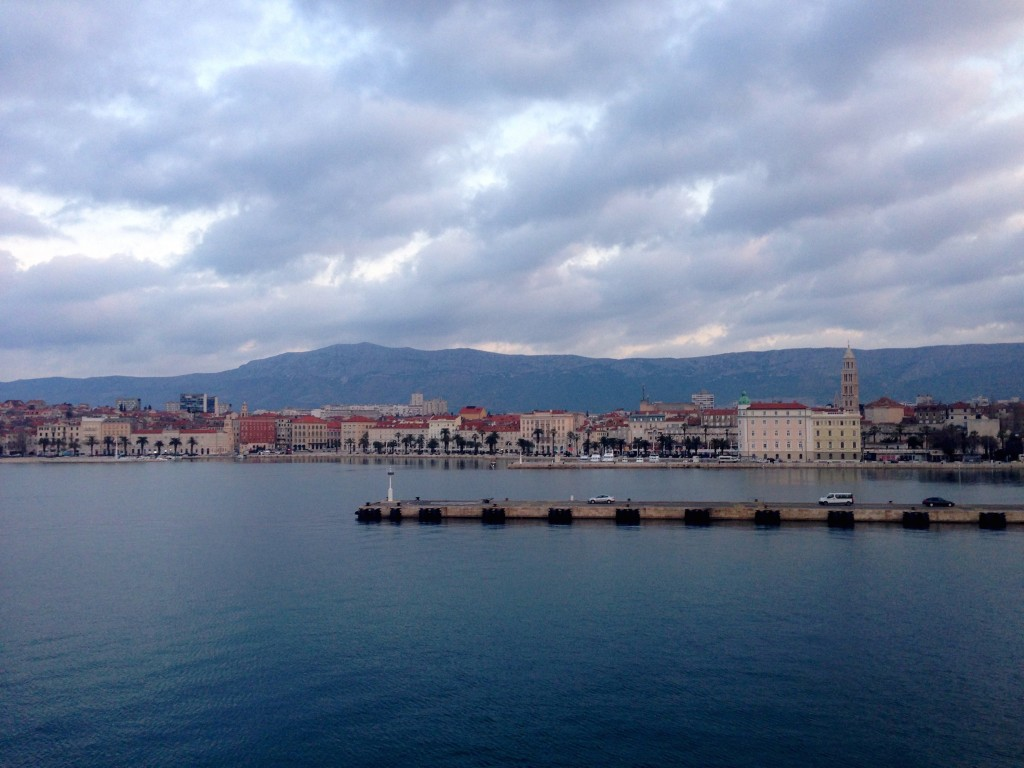 Beautiful Split as we arrived at 7 in the morning.