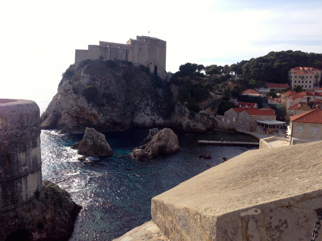 St. Lawrence Fortress, next to Dubrovnik. Lots of scenes from Game of Thrones were filmed on the thin walkway jutting out into the water below the fortress!