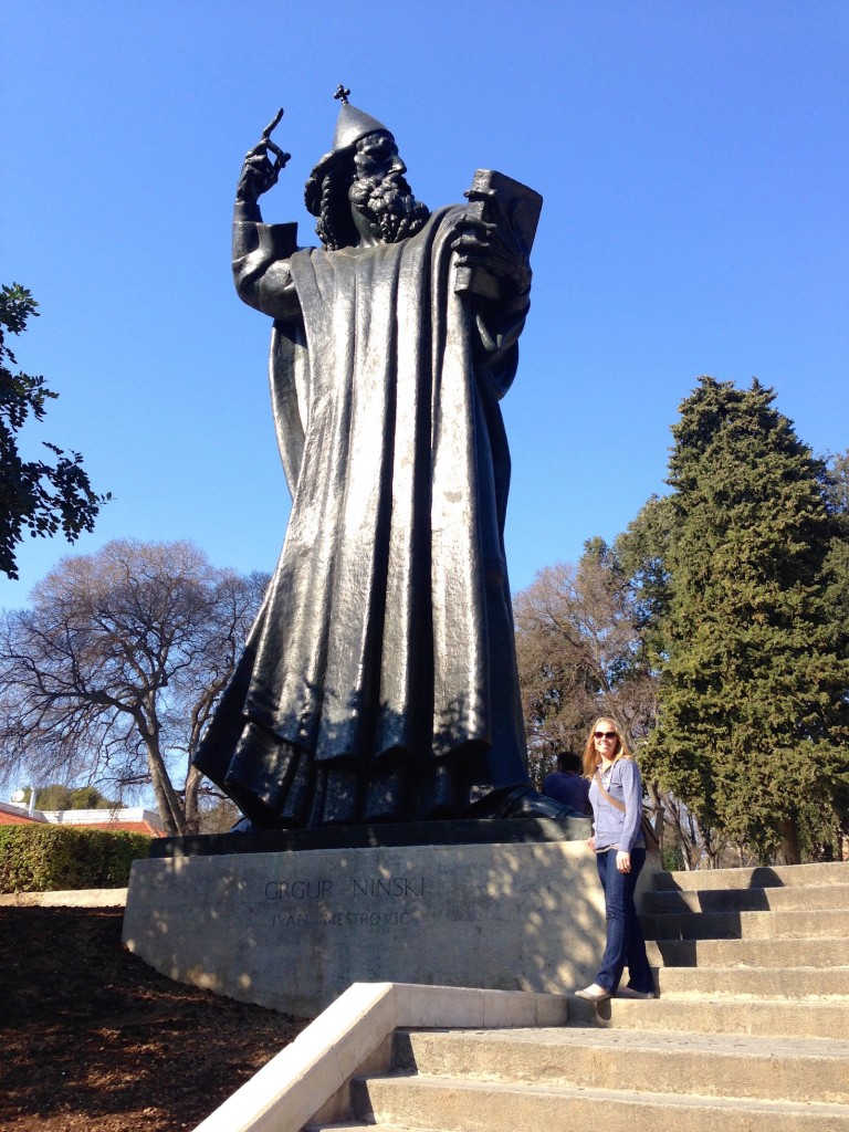 Split's famous Gregory of Nin statue. Rubbing his toe is said to be good luck!