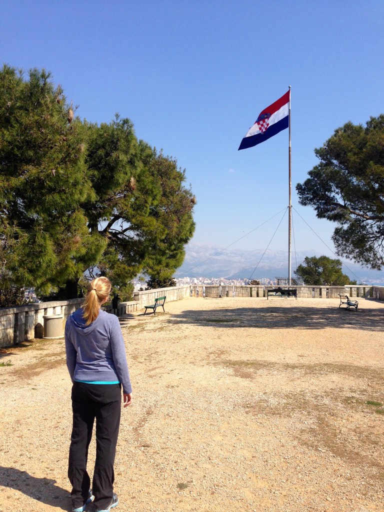 Another photo in Marjan Park. This is the highest viewpoint you can get to, and has a huge Croatian flag flying!