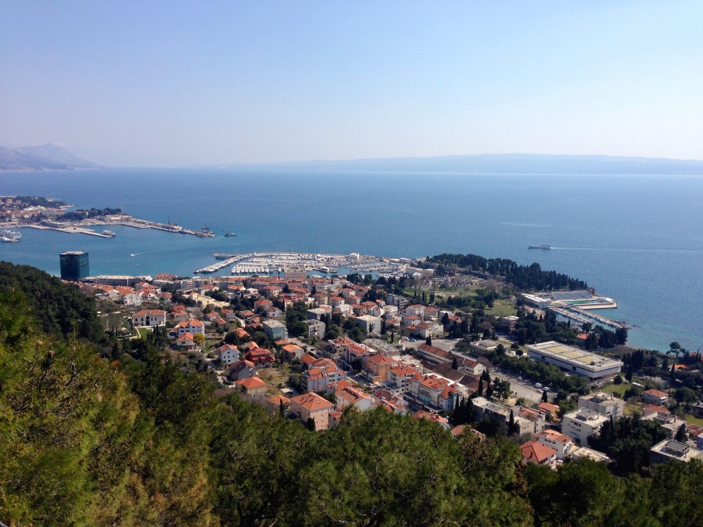 The view from the top of Marjan Park.