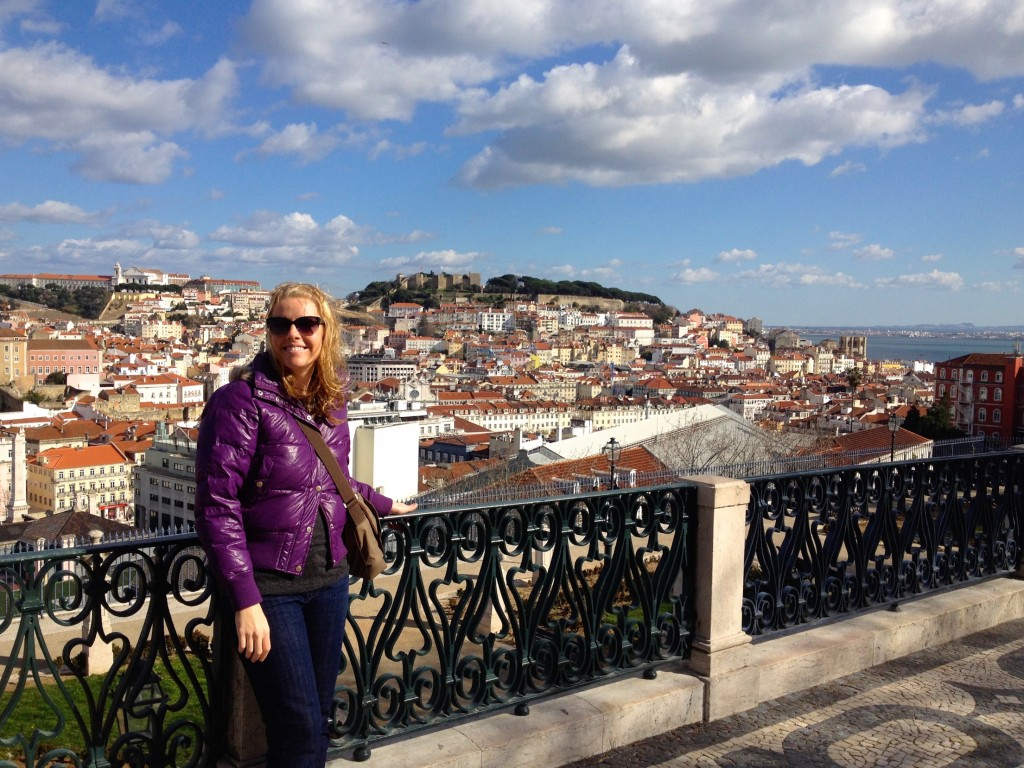 The amazing view from the Miradouro de São Pedro.