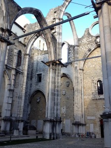 Remains of Convento do Carmo.