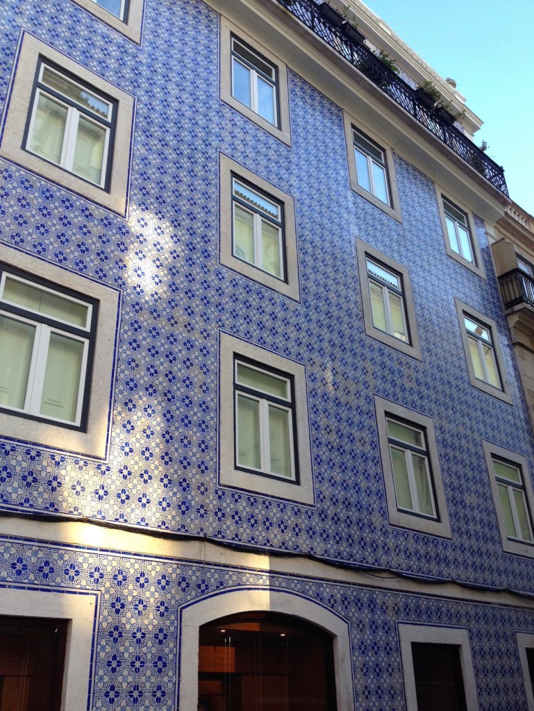 Lisbon is known for its tilework. So many buildings here are completely covered with unique, beautiful tiles.