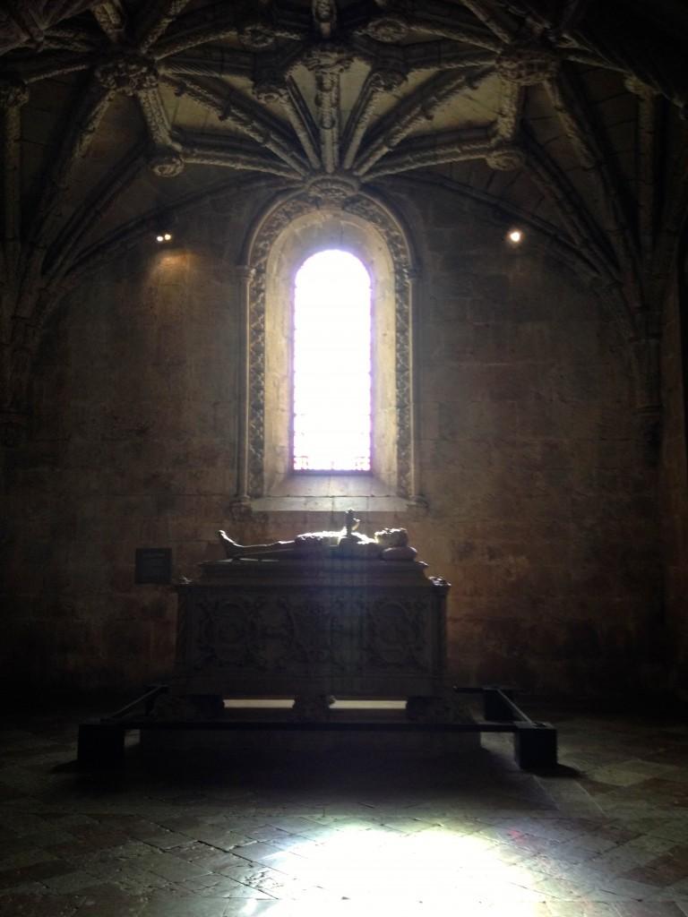 A memorial to Luís de Camōes, perhaps Portugal's most famous poet.