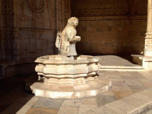 A fountain where monks would wash up before going into the rectory.