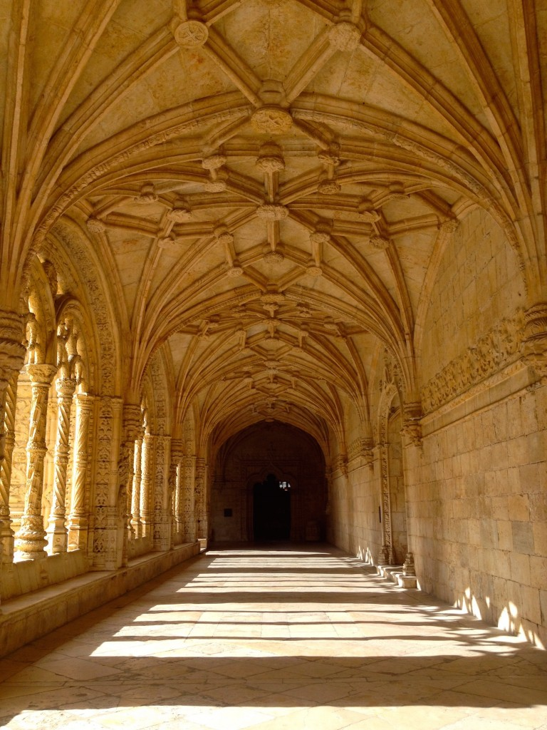 The Cloisters at the Monastery of Jerónimos.