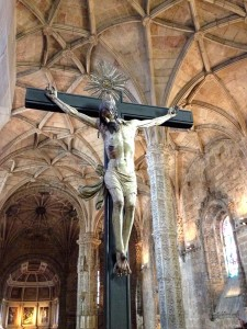 With cloisters admission, you get to head up to the upstairs part of the church, home of this crucifix.