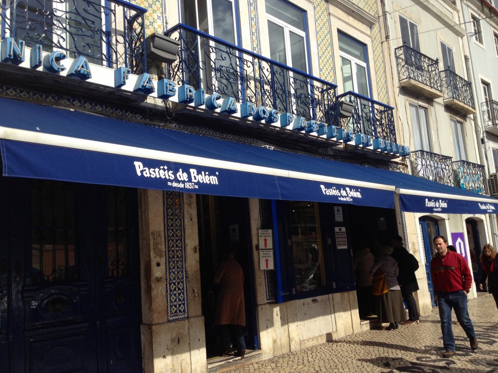 The outside of Pastéis de Belém Cafe.