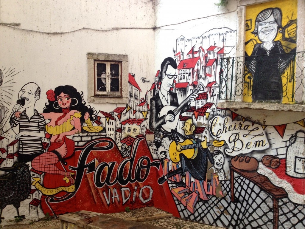 Graffiti in Lisbon's wonderful Alfama neighborhood.
