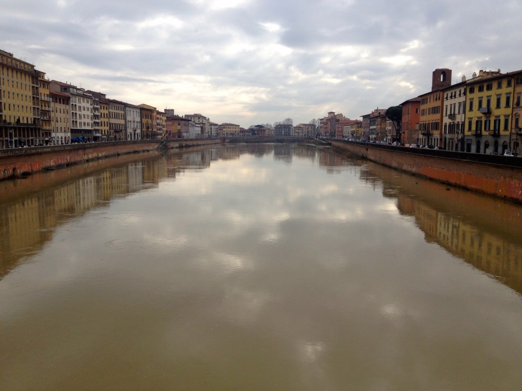 The Arno River in Pisa