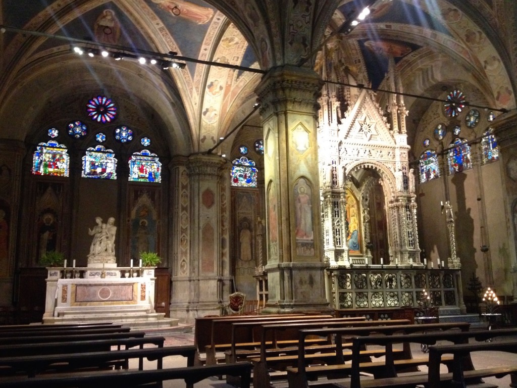 Inside Orsanmichele Church.
