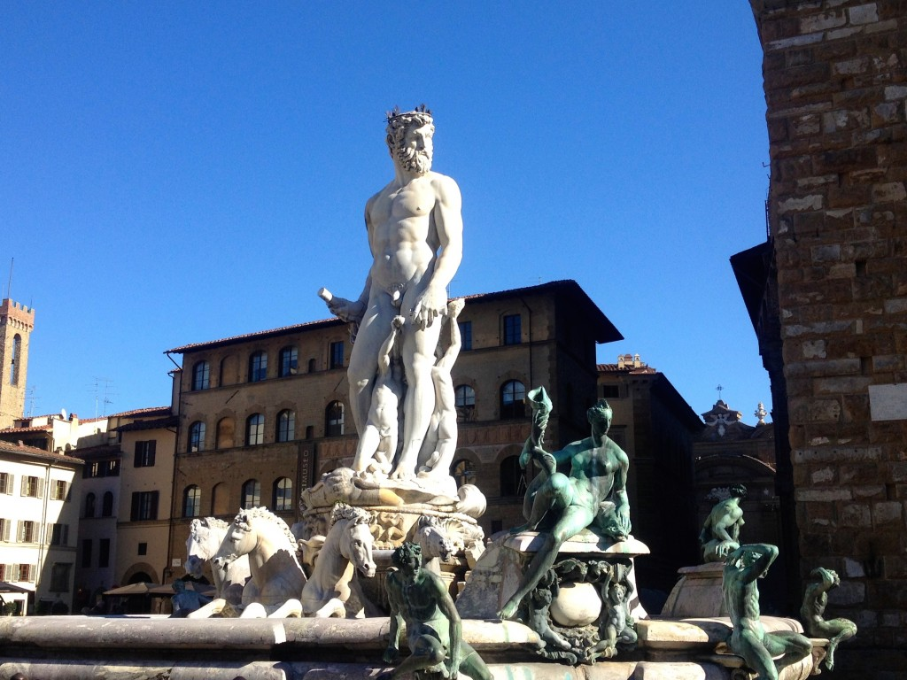 "What strikes me is how nonchalant they all look about their nudity. This one is the ""Fountain of Neptune""."