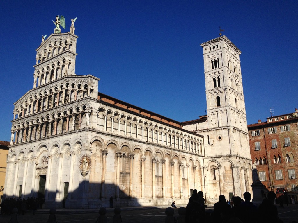Lucca's beautiful Church of San Michele.