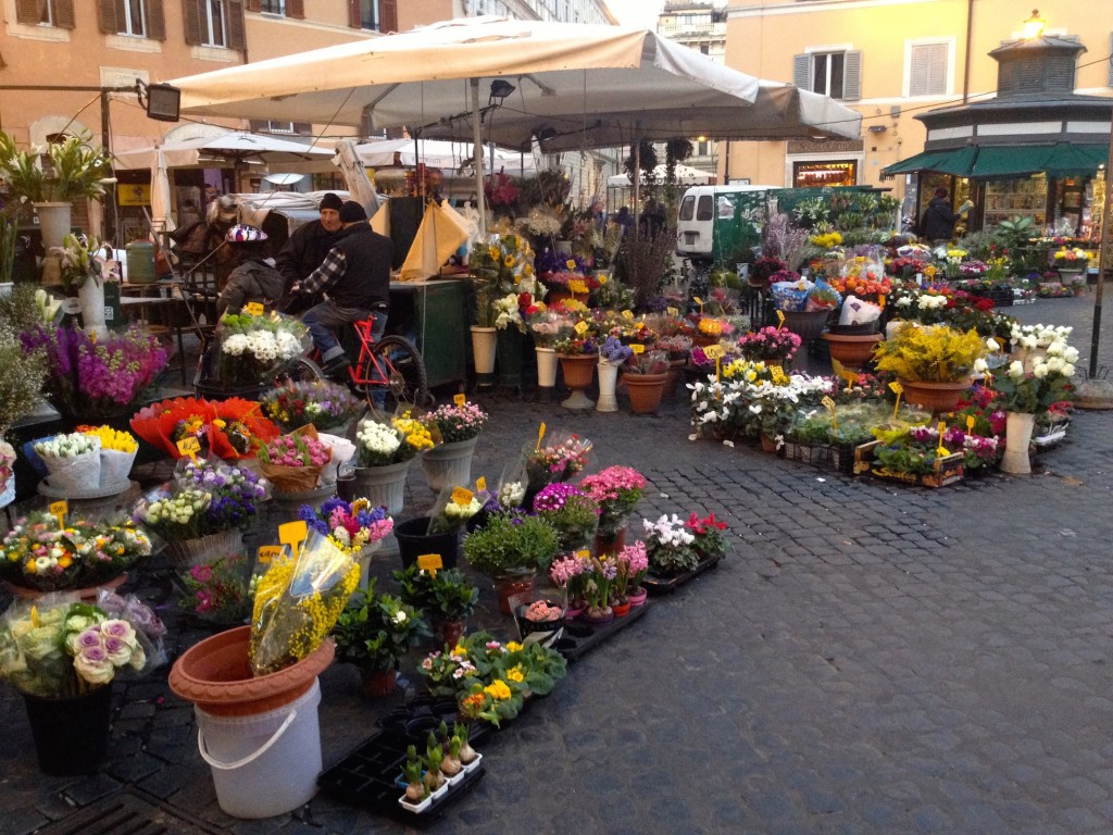 There are many Flower Vendors at Campo de' Fiori, appropriate for a square whose name means Field of Flowers.