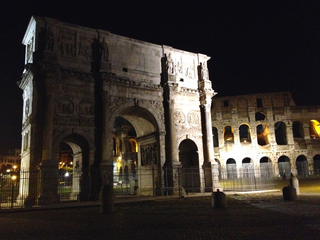 We also saw the Arch of Constantine at night - I think it's even more beautiful lit up at night than it was during the day.