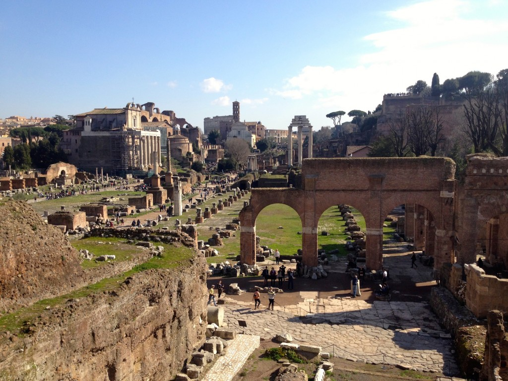 The Roman Forum. We got a beautiful day, and had a fantastic visit. PRO TIP: Bring along snacks!!