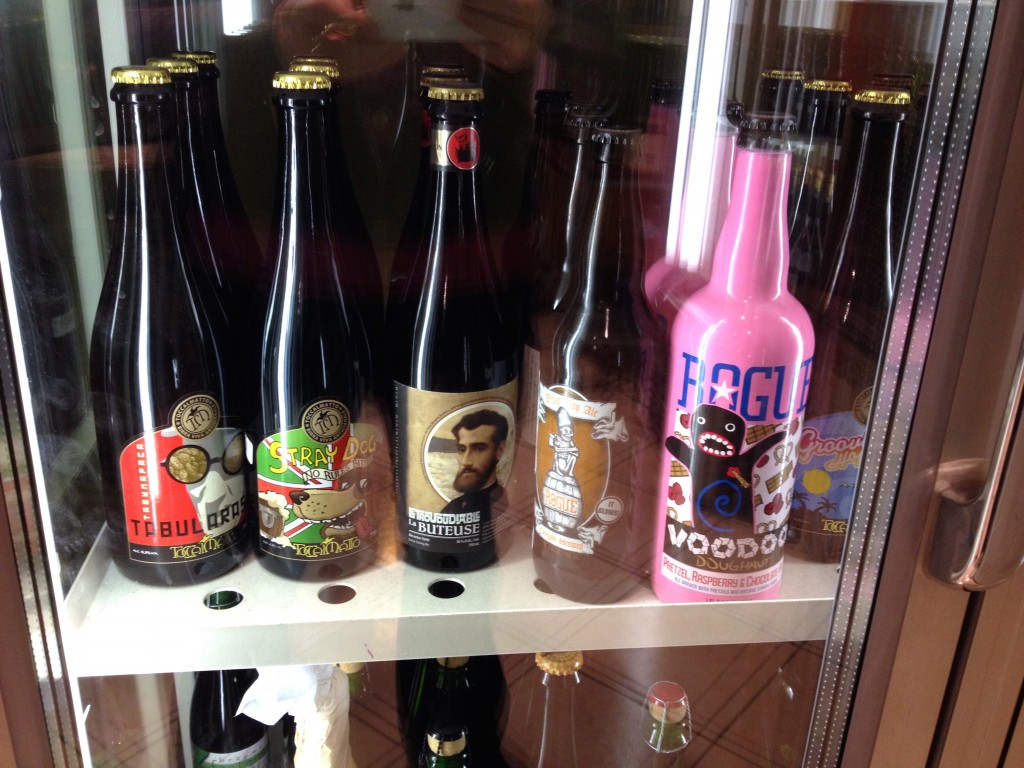 Look, Rogue beers!! I don't enjoy the Voodoo Donut beer varieties from Rogue, but I'd recognize that flashy pink bottle anywhere.