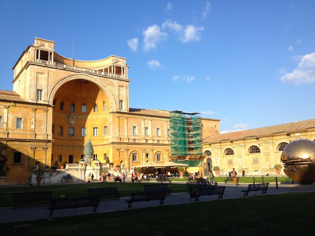 The Vatican Museum's beautiful courtyard.