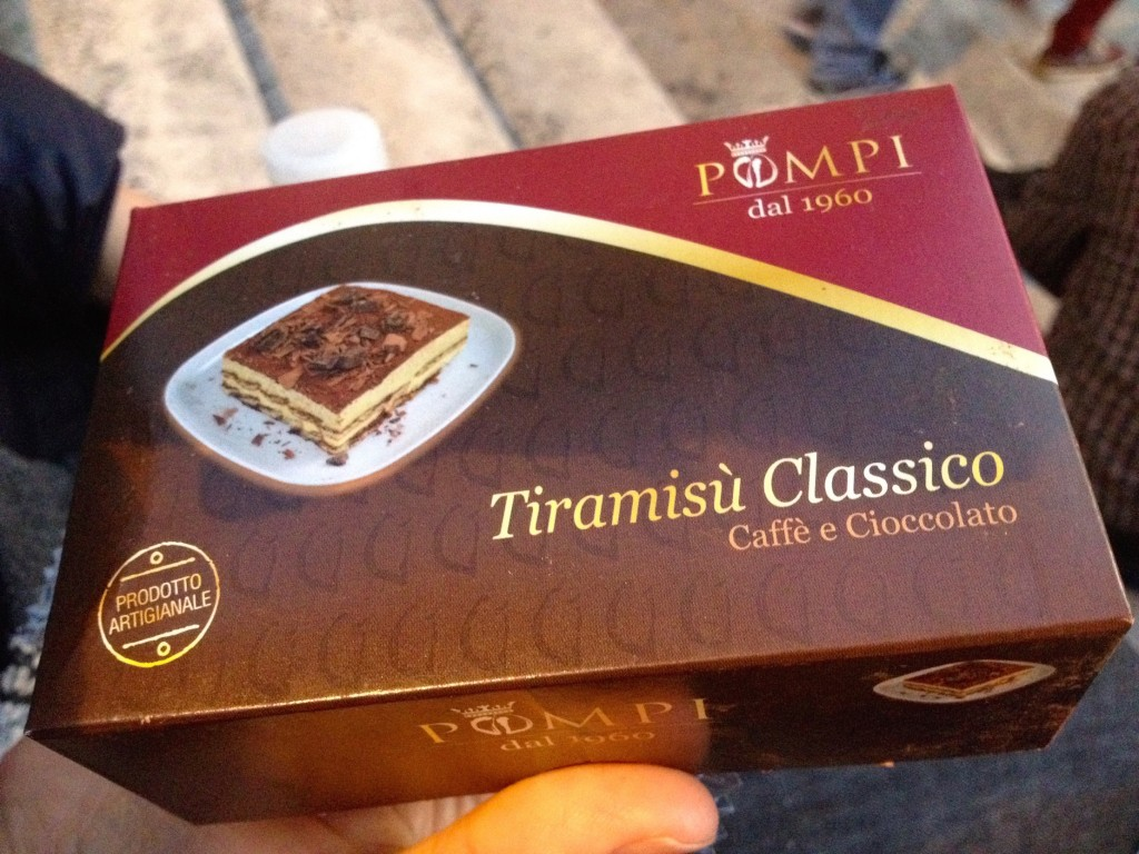 The goods: Pompi's Classic Tiramisu.