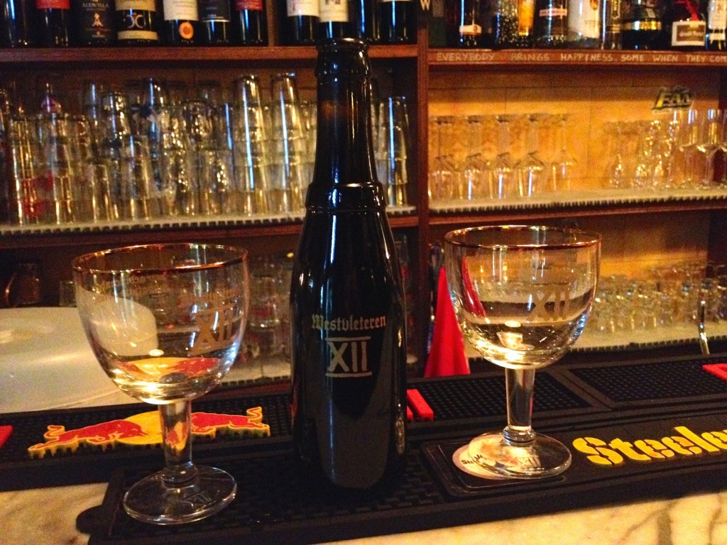 For 15 euro, we got a bottle of Westvleteren 12 at La Boticella in Rome.