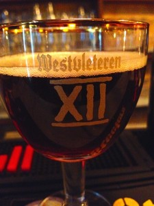 A glass of Westvleteren 12 in Rome.