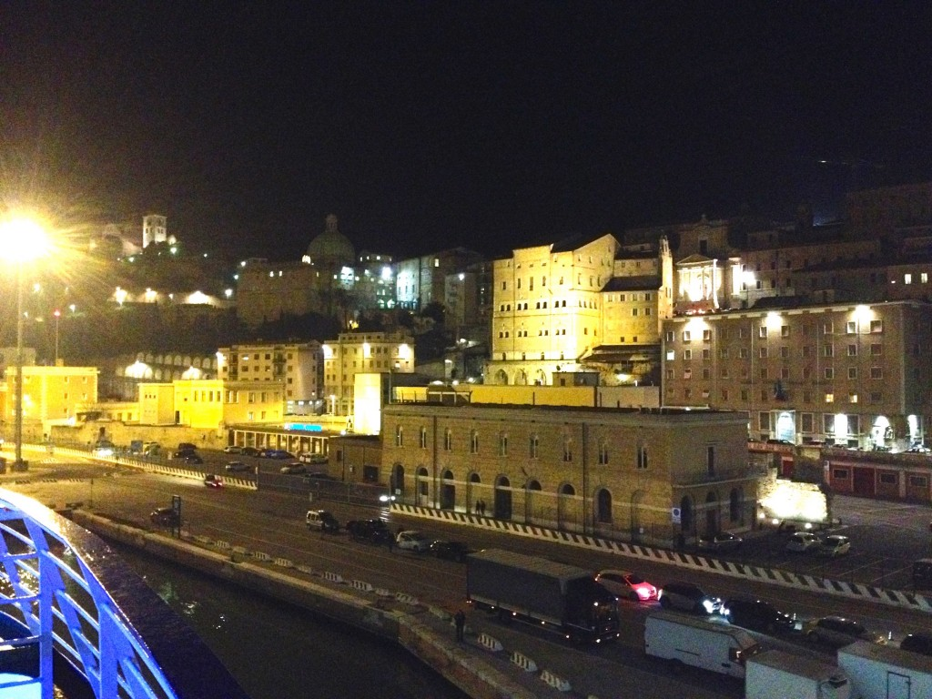 Ancona, Italy at Night before we left Port.