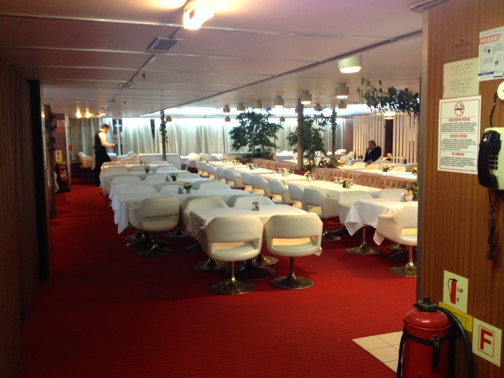 The Restaurant on our Marko Polo Ferry