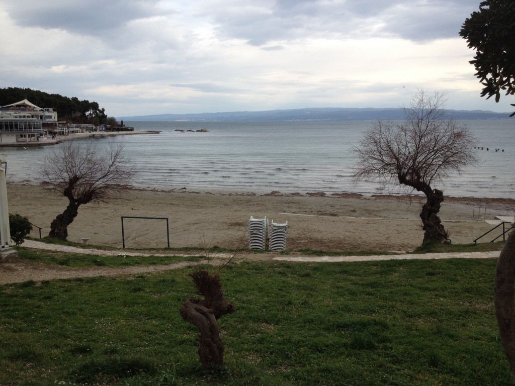 One of Split's Beaches. We sure wish it was warm enough for swimming!