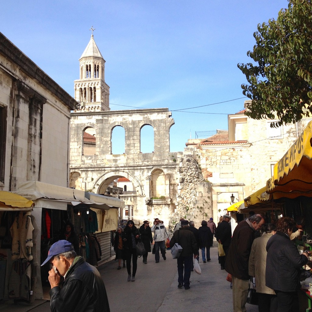 The Diocletian Palace walls are such a fun backdrop for the outdoor market.