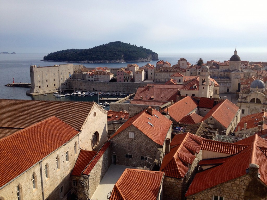 Dubrovnik is a sea of orange rooftops.