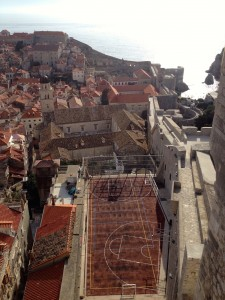 A rooftop basketball court in Dubrovnik's Old City!