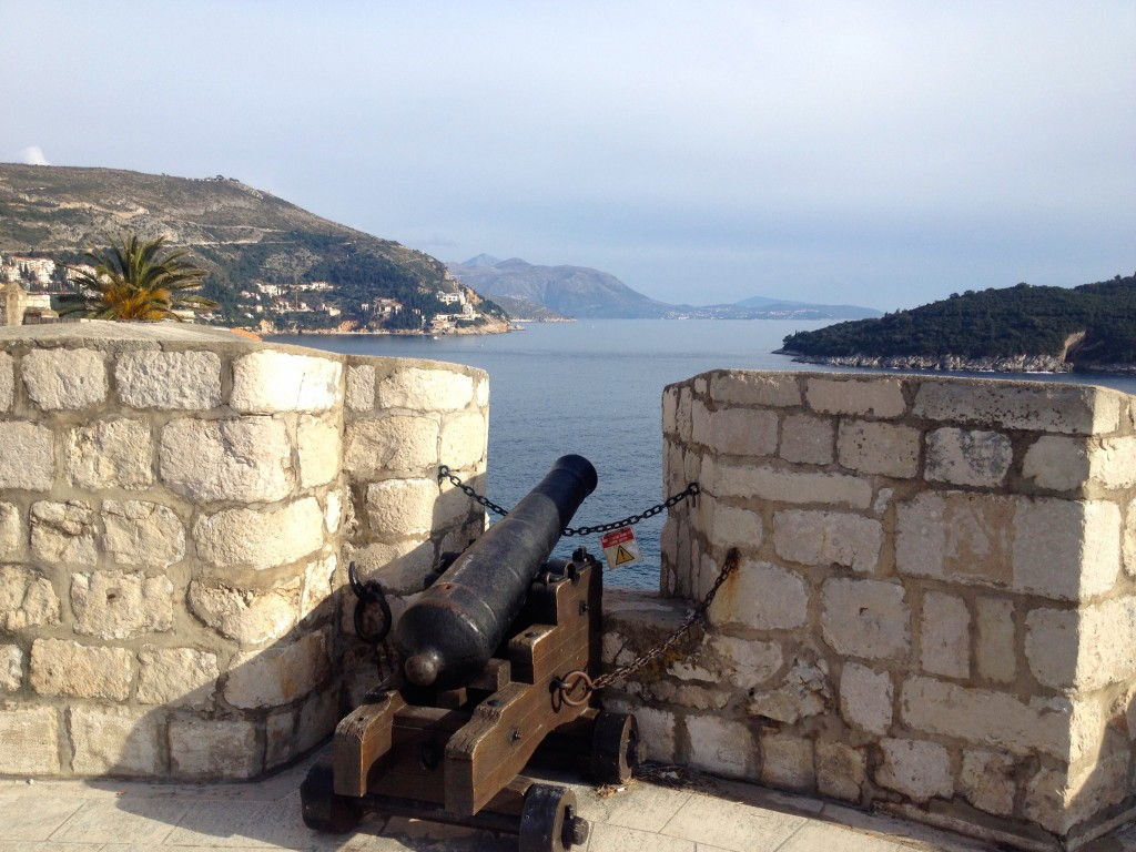 Oh you know, just a cannon hanging out on top of the wall.