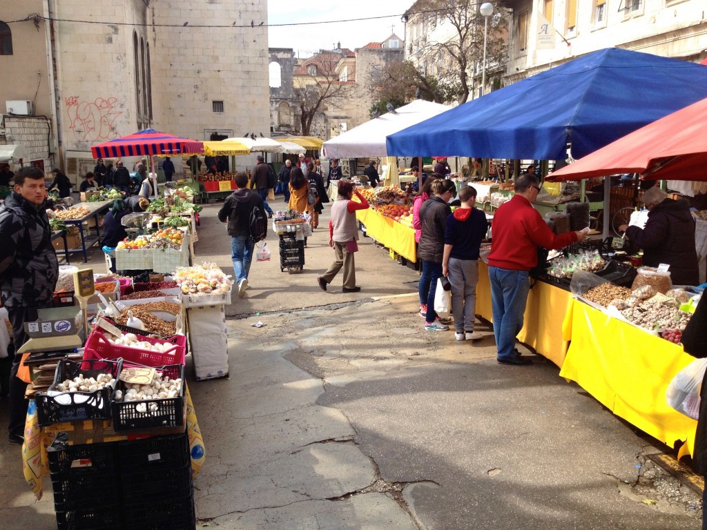 Split's Outdoor Market, open every day!