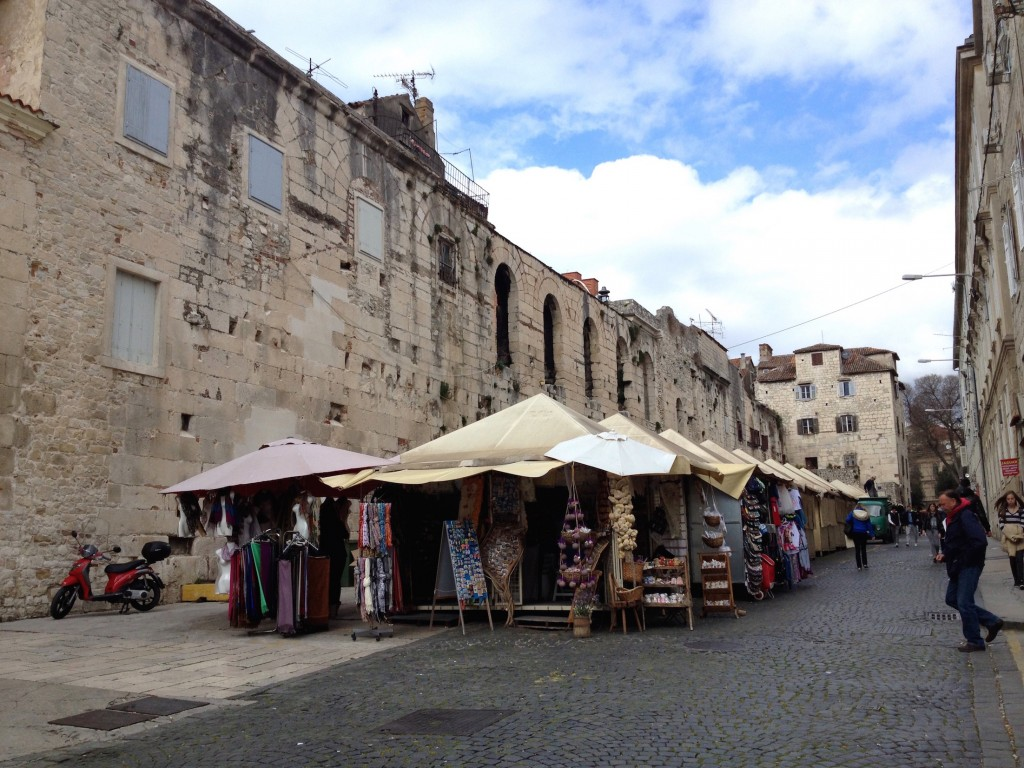 More stalls at Split's market, right next to the old city wall that's hundreds of years old!