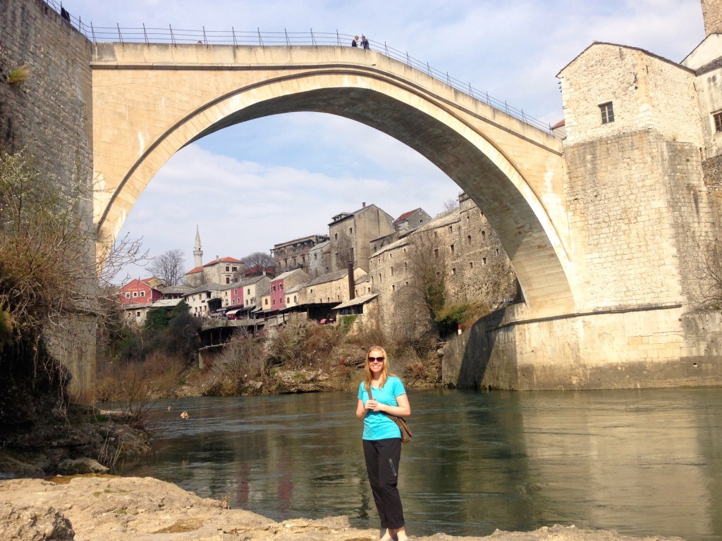 Mostar's Old Bridge, spanning the Neretva River.