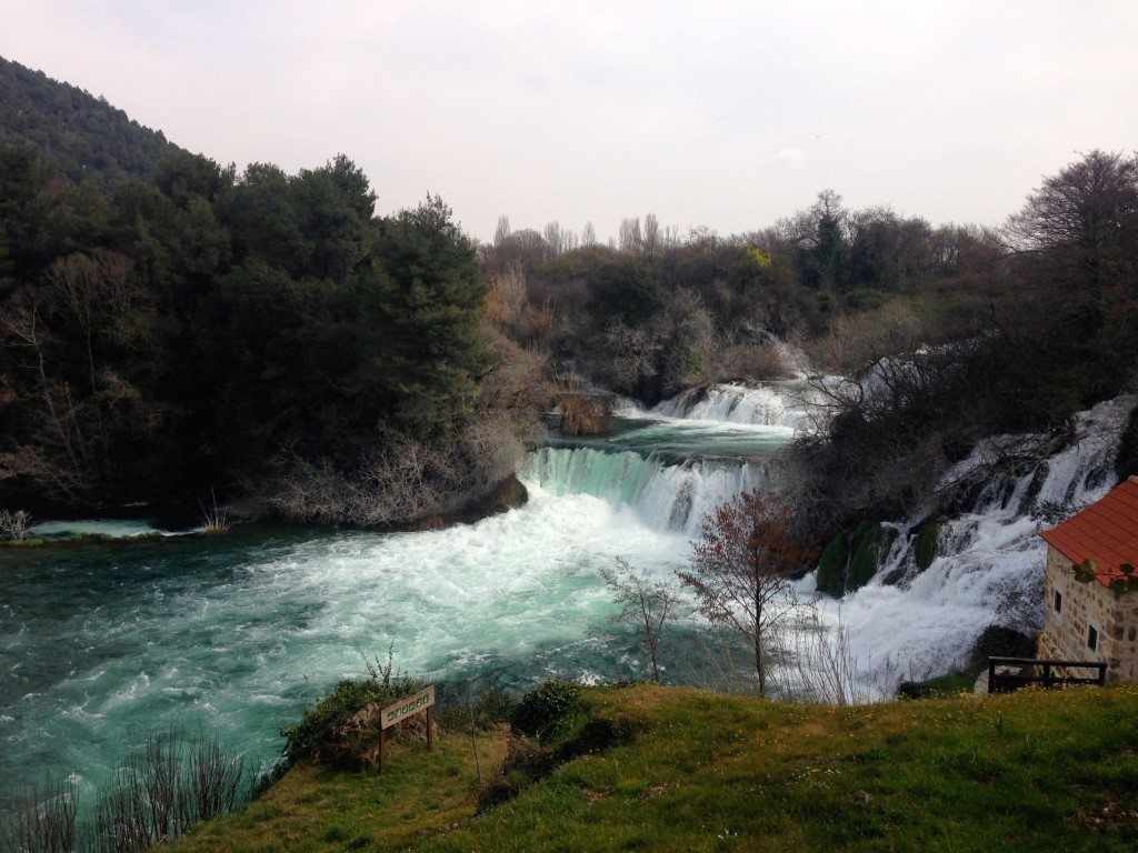 Beautiful Skradinski Buk Falls inside Krka National Park