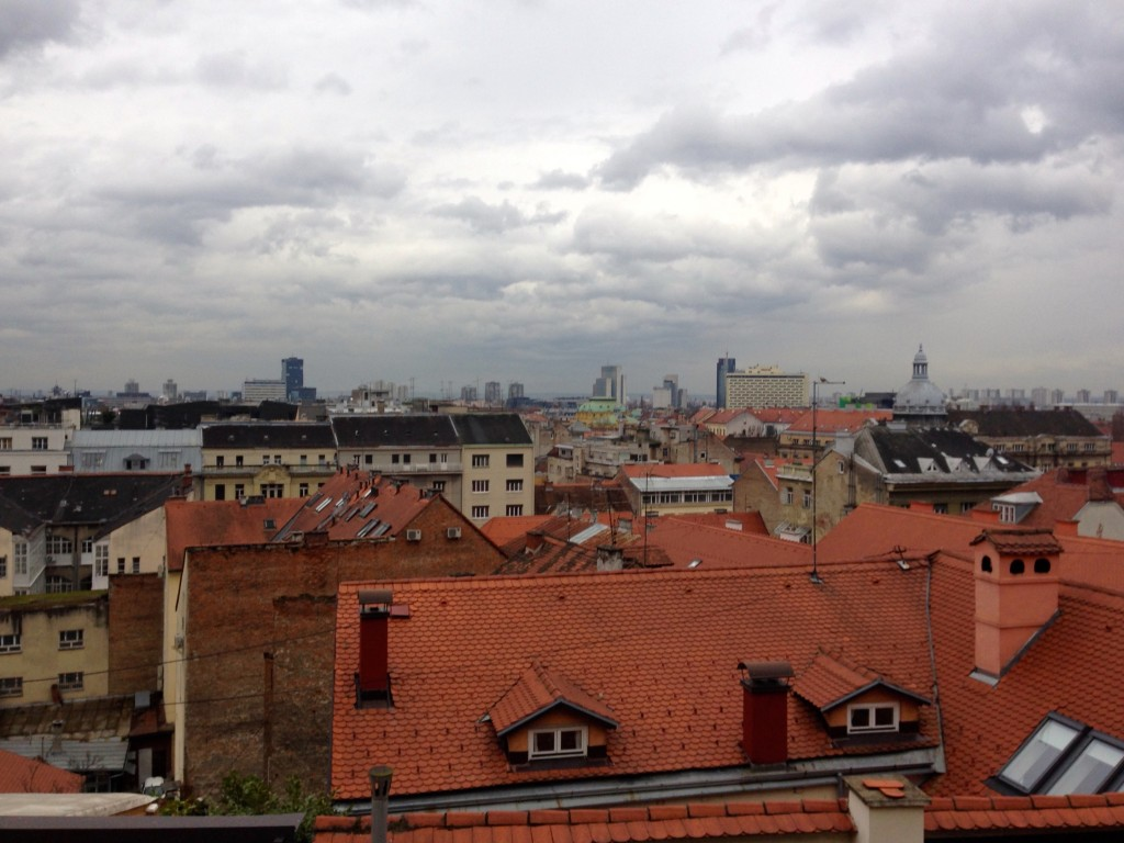 The view out over gorgeous Zagreb from the top of the Funicular.
