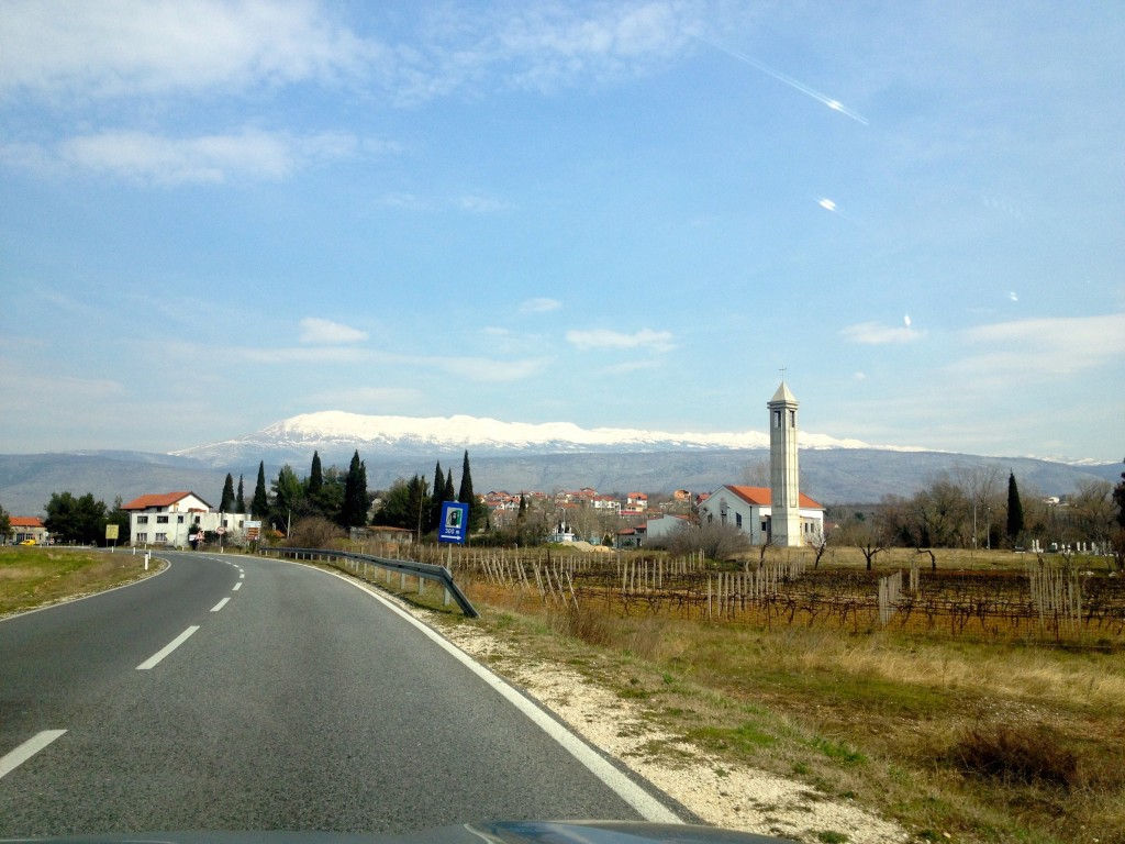 Beautiful views on the drive to Mostar.