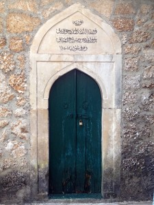 A door inside Koski Mehmet-Pasha Mosque's Courtyard.